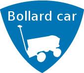 schild-bollard car